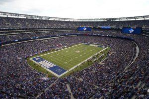 Nov 10, 2013; East Rutherford, NJ, USA; General view of MetLife Stadium during the NFL game between the Oakland Raiders and the New York Giants. Mandatory Credit: Kirby Lee-USA Today Sports