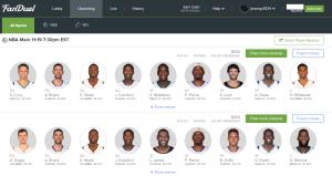FD_Thurs_NBA_Lineups